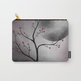 Midnight Peach Carry-All Pouch