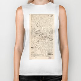 Vintage Map of Washington D.C. (1914) Biker Tank