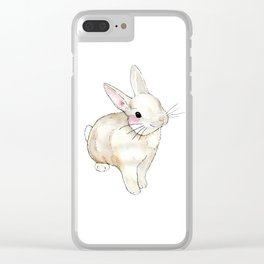 Little Bunny Clear iPhone Case