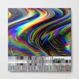 Rainbow modern glitch effect Metal Print
