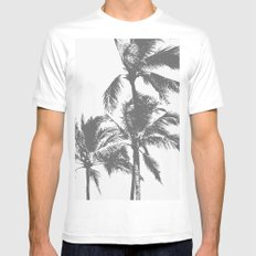 Paradise on my Mind MEDIUM Mens Fitted Tee White