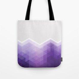 ULTRA VIOLET TRIANGLE CHEVRON DESIGN Tote Bag