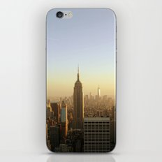 New York Skyline @ Dusk with Empire State Building iPhone & iPod Skin