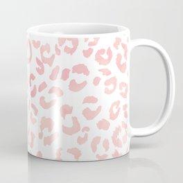 Blush pink modern leopard pattern watercolorpattern Coffee Mug