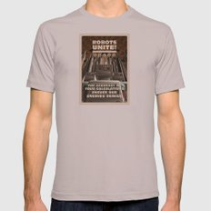 Robots Unite Mens Fitted Tee Cinder SMALL