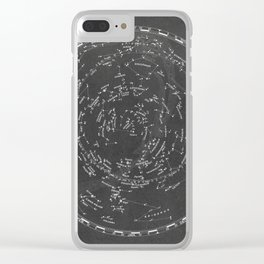 Star Map Clear iPhone Case