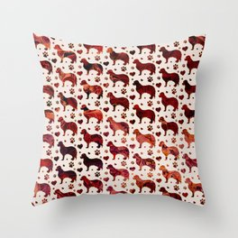 Cavalier King Charles pattern Throw Pillow