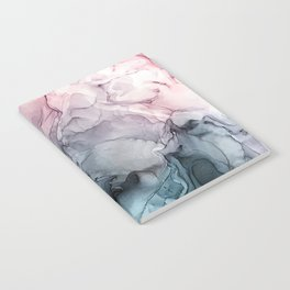 Blush and Payne's Grey Flowing Abstract Painting Notebook