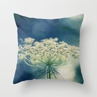 lace Throw Pillows featuring Lace by Sandra Arduini