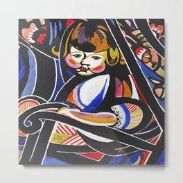 Child in Rocker by Henry Lyman Sayen Metal Print