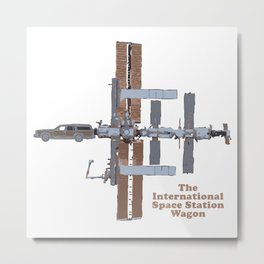Space Station Wagon Metal Print