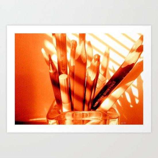 the sun is up Art Print