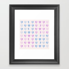 AFE Abstract Heart Shapes Framed Art Print