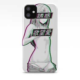 WAIFU MATERIAL - SAD JAPANESE ANIME AESTHETIC iPhone Case
