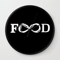food Wall Clocks featuring Food by Poppo Inc.