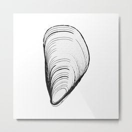 black or white mussel it's my life Metal Print