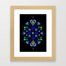 I heart acorns Framed Art Print