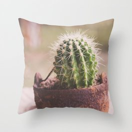 Tiny Cactus Throw Pillow