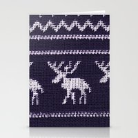 scandinavian Stationery Cards featuring Scandinavian X-Mas by Monika Strigel®