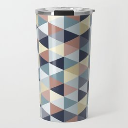 Earth Tones and Blues Small Triangles B Travel Mug