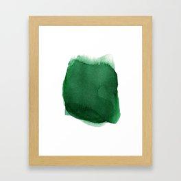 Green dot Framed Art Print