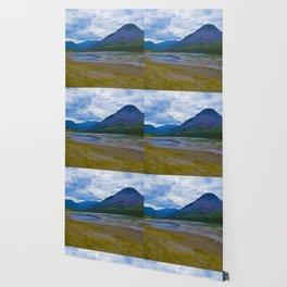 Morrow Peak & the Athabasca River in Jasper National Park, Canada Wallpaper