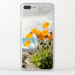 Icelandic Poppies II Clear iPhone Case