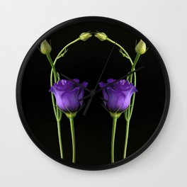 Reflection in Purple Wall Clock