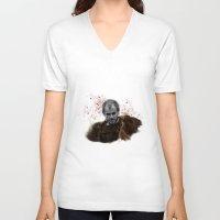 vikings V-neck T-shirts featuring Floki - Vikings by firatbilal