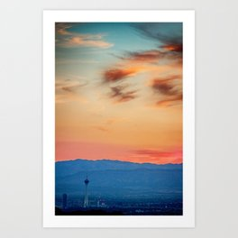 Sunsets In Vegas Art Print