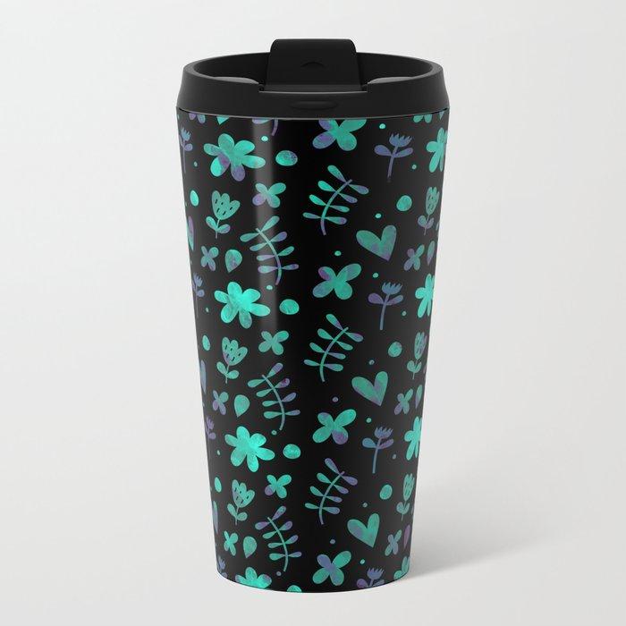 Colorful Lovely Pattern V Metal Travel Mug