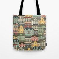 urban Tote Bags featuring Urban by Julia Badeeva