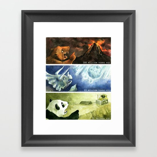 The Mass Extinctions Framed Art Print