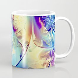 Etched Glass Abstract Coffee Mug