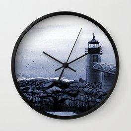 Lighthouse, Marshall Point, Maine Wall Clock