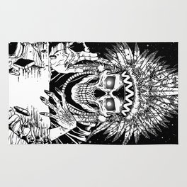 INVASION - Black and white variant Rug