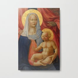 Madonna And Child 1376 Metal Print