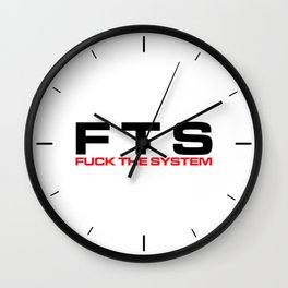 F*ck The System Music Quote Wall Clock