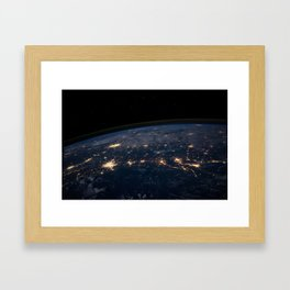 The Earth Night Universe Cosmos Outer Space Framed Art Print