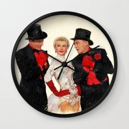 Mandy (White Christmas) Wall Clock