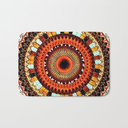 Autumn Mandala Bath Mat