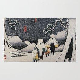 Hiroshige, Travellers on horseback in the snow Rug