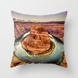 Horseshoe Bend Grand Canyon Arizona Throw Pillow