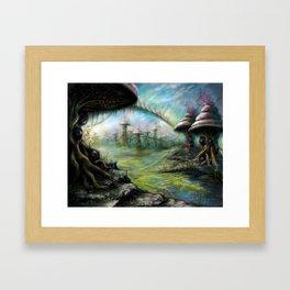 Alien Landscape Framed Art Print