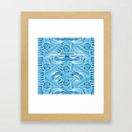 Polar Bear Pattern Framed Art Print