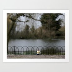 Tommy By The Lake  Art Print