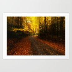 Automn Road trip Art Print