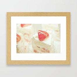 Hello Strawberries Framed Art Print