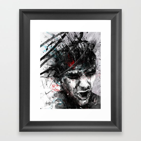 Spiral Combustion Framed Art Print