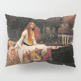 John William Waterhouse The Lady Of Shallot Restored Pillow Sham